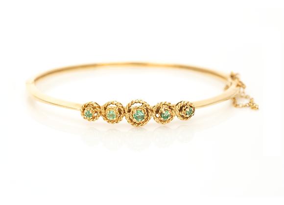 Emerald Set Bangle