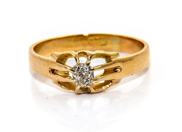 Old Cut Diamond Solitaire Ring