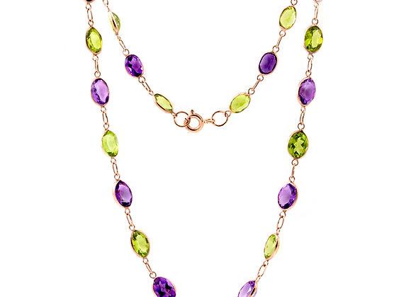 Peridot & Amethyst Multi-stone Necklace
