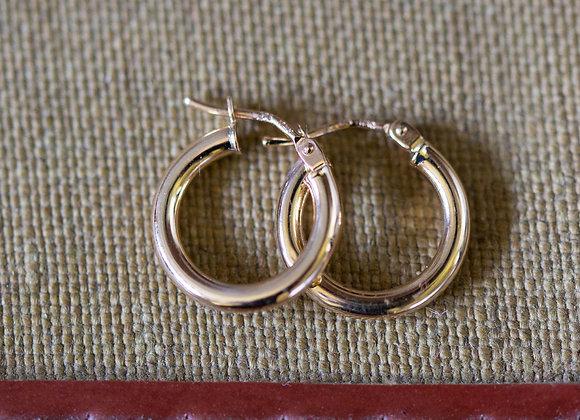 9ct Small Hoop Earrings