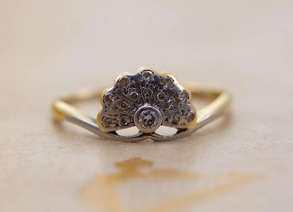 Diamond Set 'Peacock' Ring