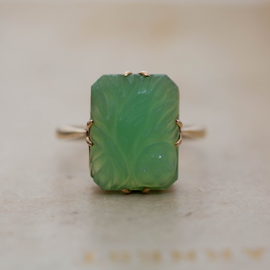 Carved Jade Ring