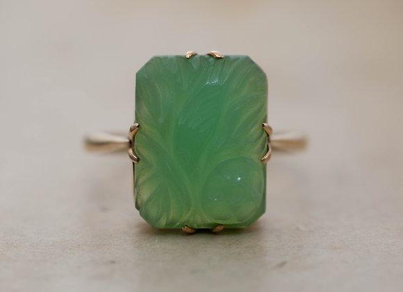 Carved Jade Ring