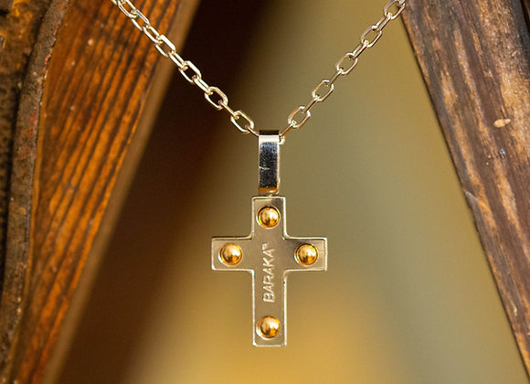 'BARAKA' Cross Pendant and Chain