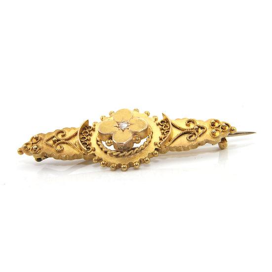 Victorian Gold & Diamond Brooch