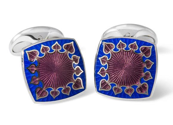 Blue & Lilac Enamel Cufflinks