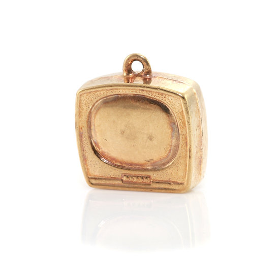 Gold Television Charm