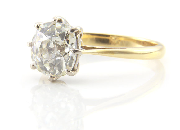 Diamond 2.25ct Old Cut Solitaire Ring