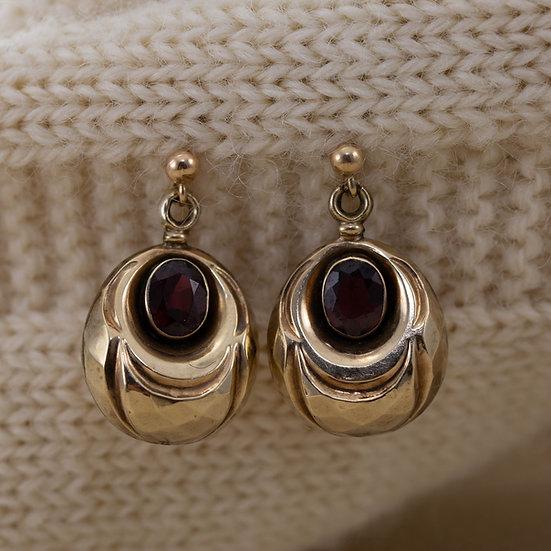 Garnet Set Drop Earrings