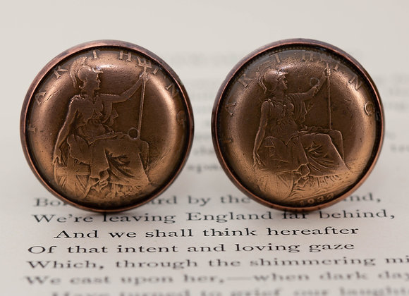 Farthing Coin Cufflinks