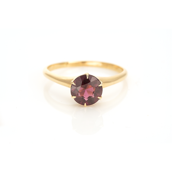 Pink Tourmaline Solitaire Ring