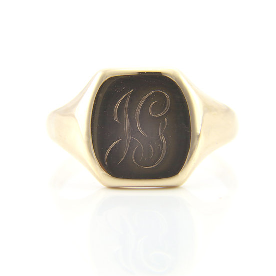 Gold Rectangular Signet Ring