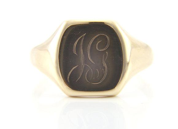 Gold Rectangular Signet Ring