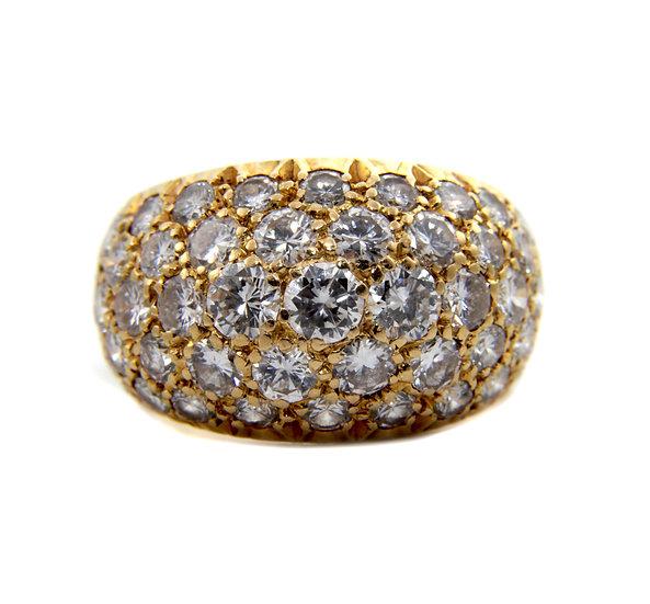 Pavé Set Diamond Cluster Ring