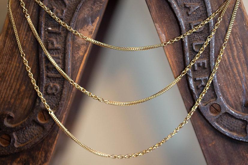 Gold  Victorian Muff Chain