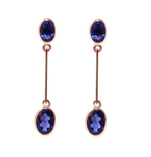 Double Drop Gemstone Earrings