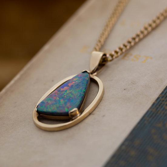 Large Opal Doublet Pendant