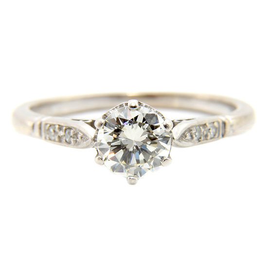 Transitional Diamond Solitaire Engagement Ring
