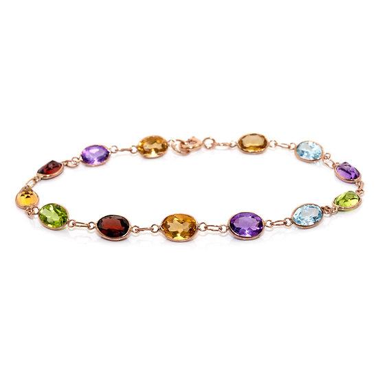 Multistone Rose Gold Bracelet