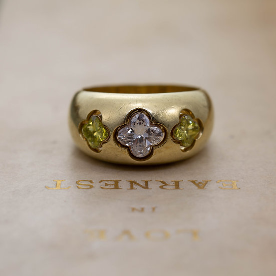 Four Leaf Clover Diamond Ring
