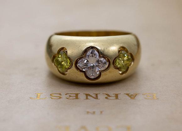 Four Leaf Clover Diamond Ring