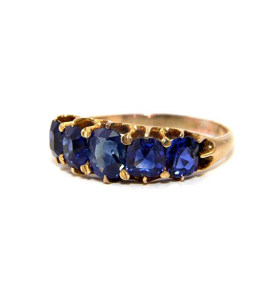 Sapphire Five Stone Ring