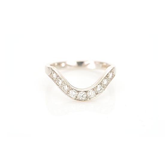 Diamond Wishbone Half Eternity Ring