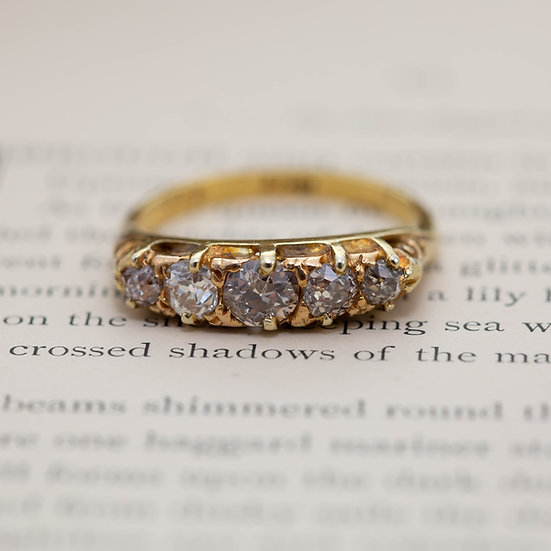 Champagne Diamond Five Stone Ring