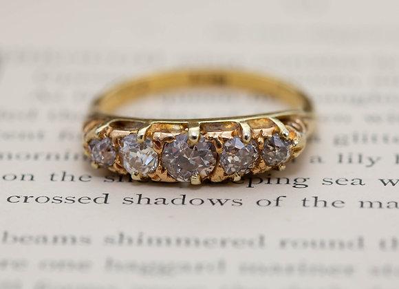 Champagne Diamond Five Stone Ring