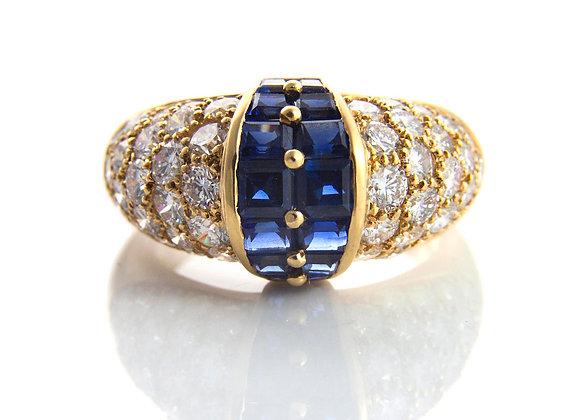 Oscar Heyman Diamond & Sapphire Ring