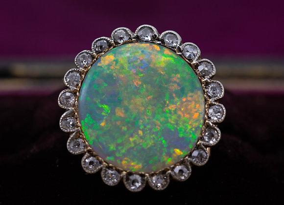 Edwardian Opal Brooch