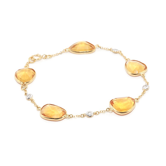 Citrine and Diamond Bracelet