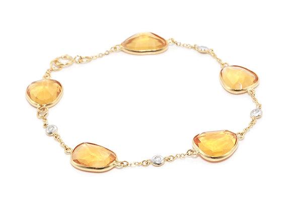 Citrine and Diamond Bracelet