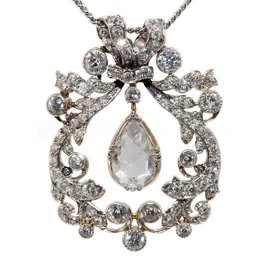 Victorian Diamond Cluster Pendant/Brooch