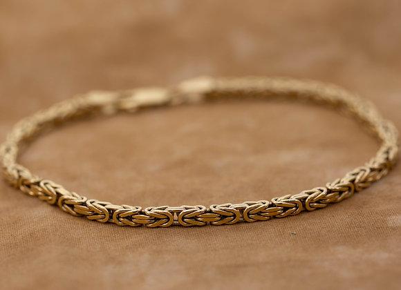 Gold Box Link Bracelet
