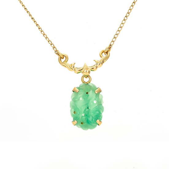Carved Jadeite Necklace