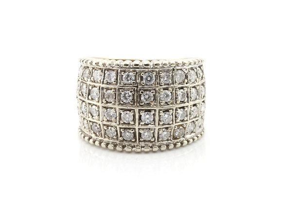 Wide Diamond Channel Set Ring