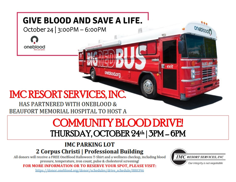 WE ARE HOSTING A COMMUNITY BLOOD DRIVE....