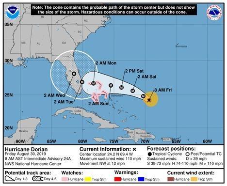 Hurricane Dorian - Update #3