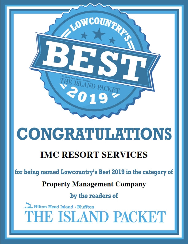Congratulations on being voted Best Property Management Company by the readers of The Island Packet!