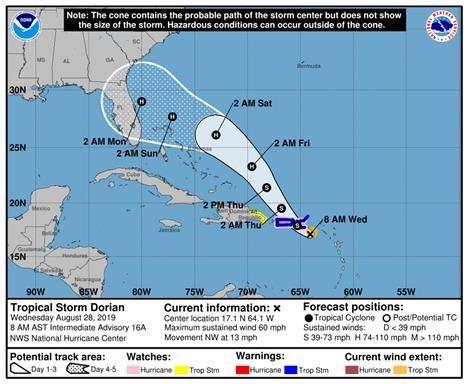 Tropical Storm Dorian - Update #1