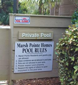 Marsh Pointe Pool Sign