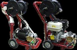 Аппарат высокого давления с электрическим и бензиновым двигателем