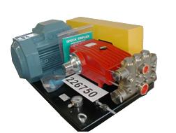 Плунжерная насосная установка для очистки цистерн
