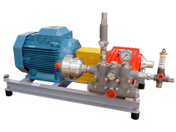 Насосные агрегаты и установки высокого давления на базе плунжерного насоса