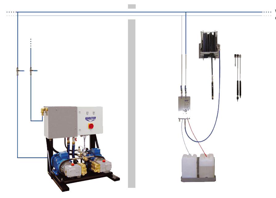 Пенная станция высокого давления