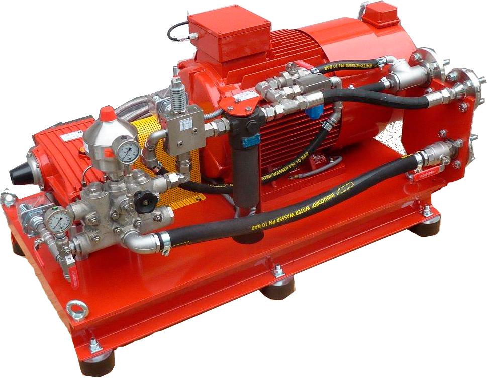 Плунжерные насосы российского производителя в комплекте с электродвигателем