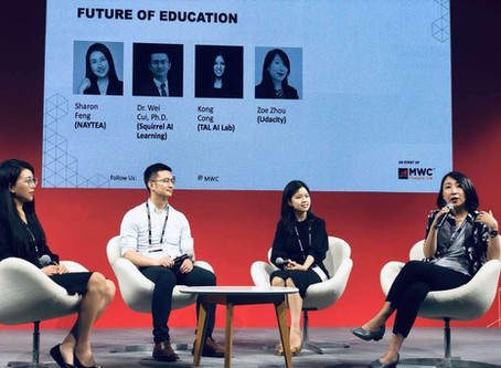 """MWC Shanghai 19, AI+Education Panel"""" The future of education"""" with NAYTEA"""