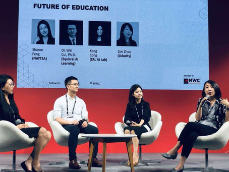 "MWC Shanghai 19, AI+Education Panel"" The future of education"" with NAYTEA"