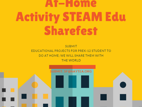 Announcing the At-Home Activity STEAM Edu Sharefest!